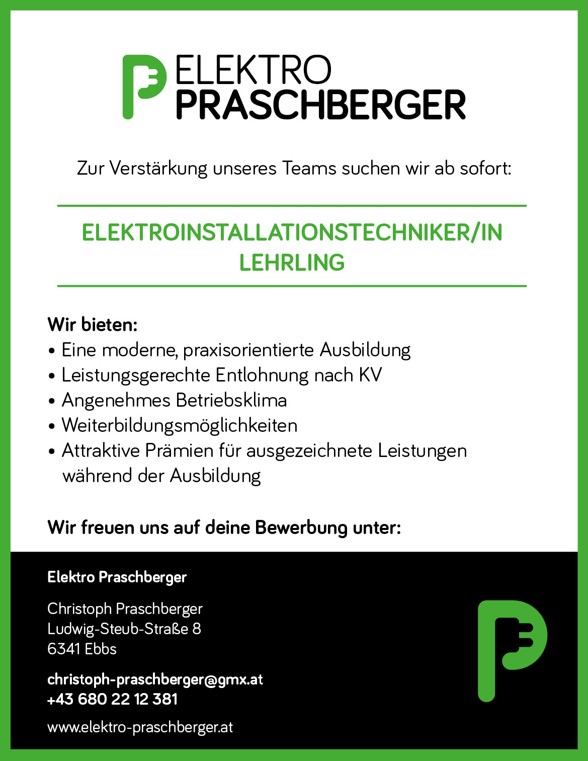 Großzügig Stellenangebote Für Elektriker Lehrling Fotos - Bilder ...